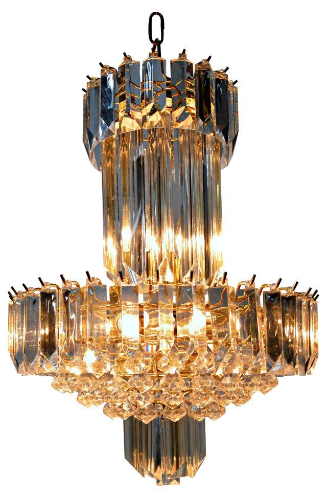 8-Light Lucite Chandelier