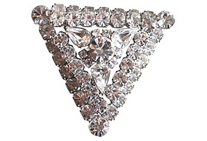 Triangular Rhinestone Pin