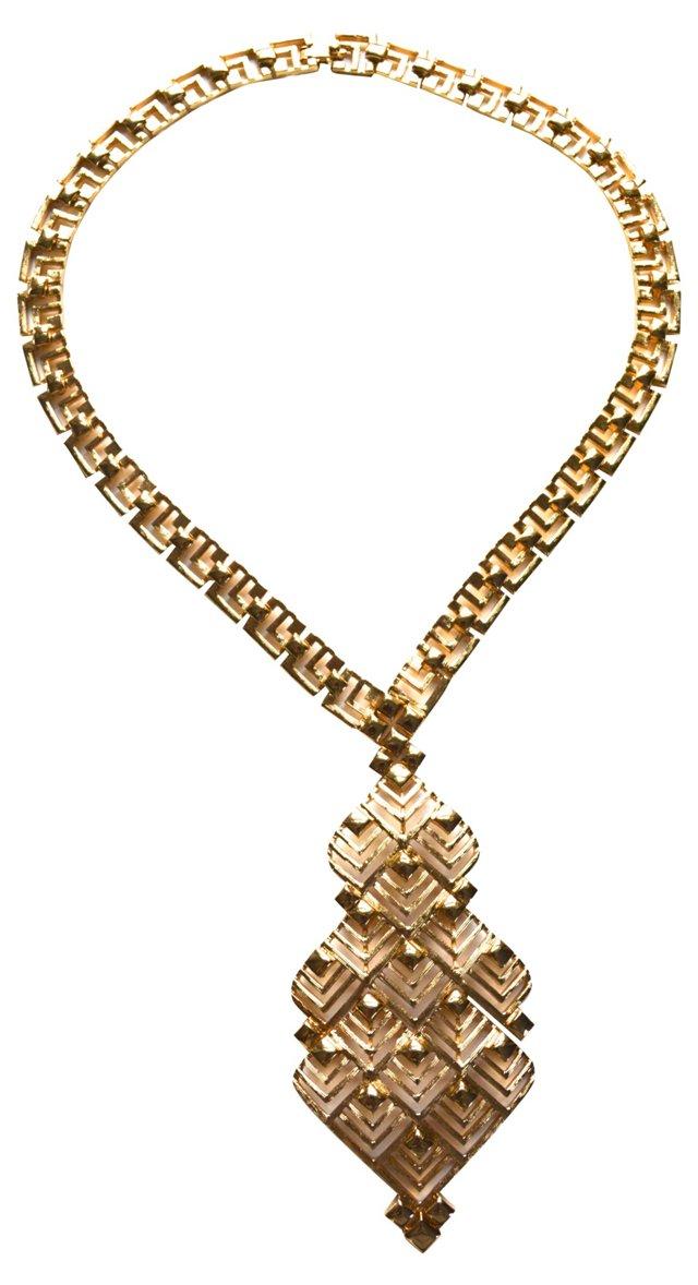 1960s Monet Geometric Necklace