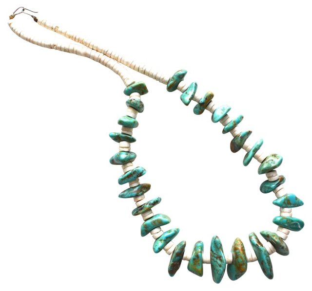 1960s Turquoise Nugget Necklace