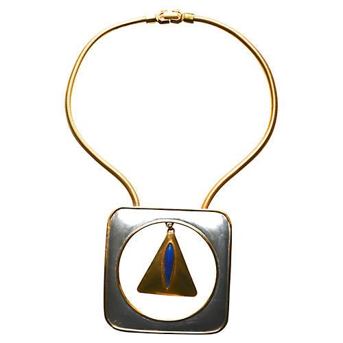Pierre Cardin Mod Triangle Necklace