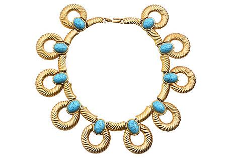 Turquoise Glass Collar, Mimi di N