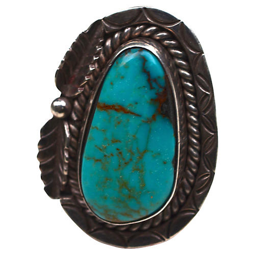Turquoise Navajo-Style Sterling Ring