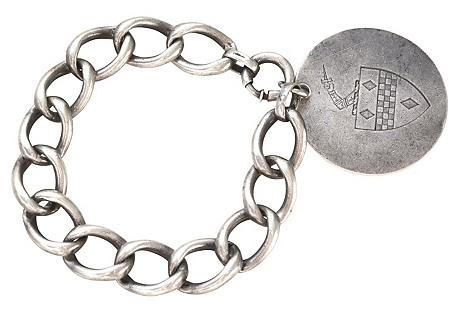 Antique Sterling Knight Bracelet