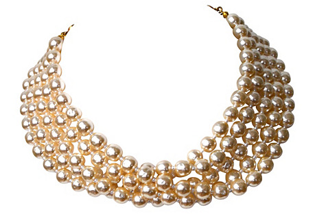 Miriam Haskell Pearl Collar Necklace