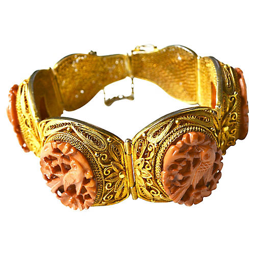 Chinese Vermeil Bird Bracelet