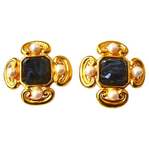 Karl Lagerfeld Maltese Earrings