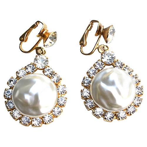 1960s Faux-Pearl Drop Earrings
