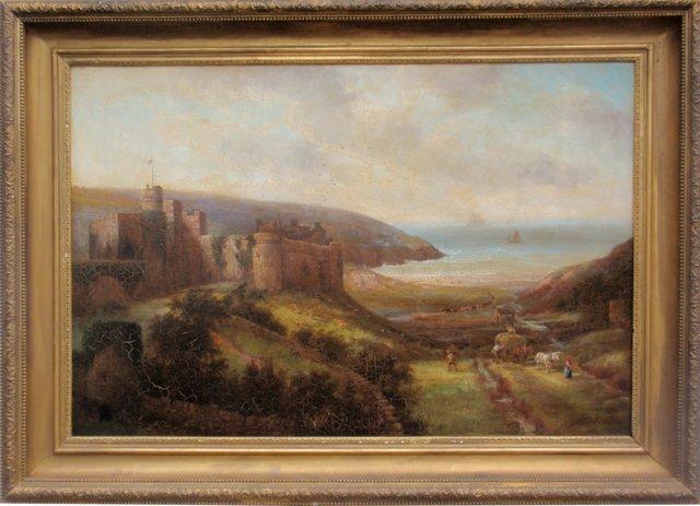 Manorbier Castle by David Cox, 1844
