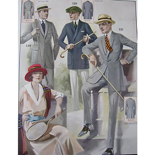 Tailor Shop Fashion Poster, Spring 1923