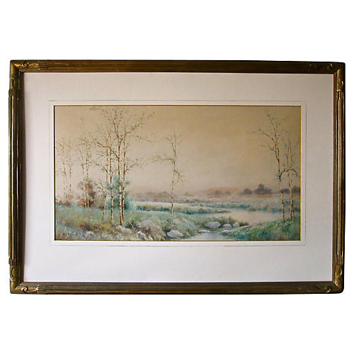 Watercolor Landscape by William Russell