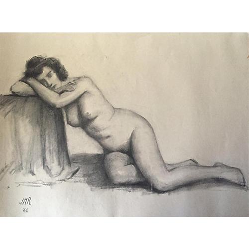 Drawing Nude Model, J. Mason Reeves 1962