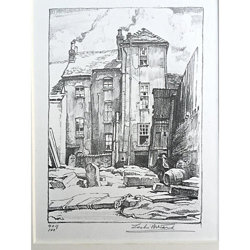 Lithograph Old Liverpool England L. Ward