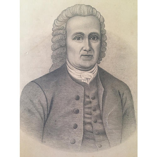 Portrait of Swedenborg by Billings