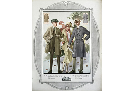 Tailor's Fashion Print, 1923
