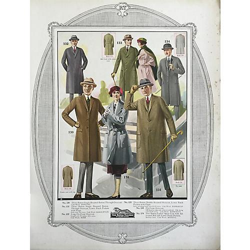 Tailor's Fall Fashion Print, 1923