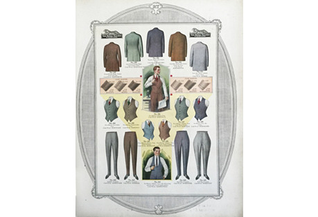 Mens Clothing Tailor's Print from 1923