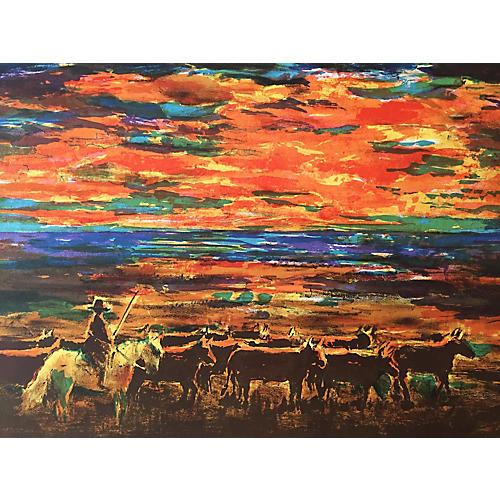 Sunset Cattle Drive