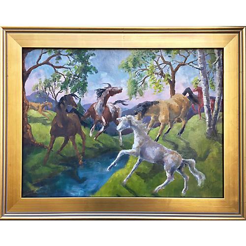 Horses by Joan Adams