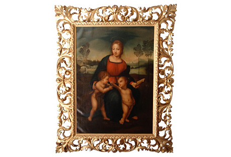 24K Gold Madonna of the Finch
