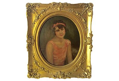 1920s Portrait Flapper Girl by Hoffman