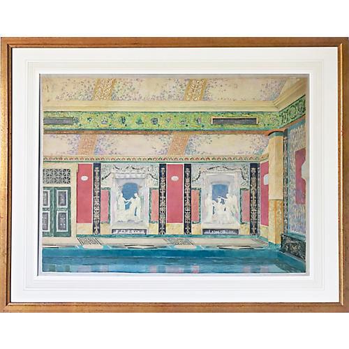 Architectural Interior Design Watercolor