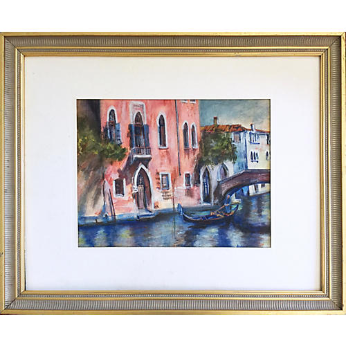 Venice Canal Watercolor