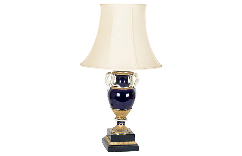 Meissen Snake Handle Lamp