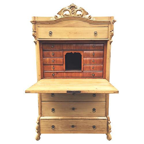 Swedish Pine Drop-Front Desk