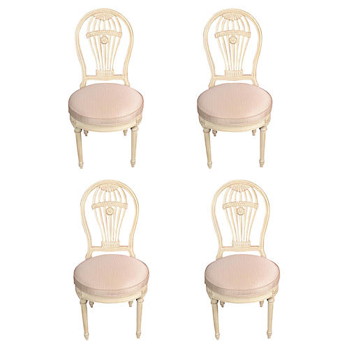 Vintage Maison Jansen Balloon Chairs, S4