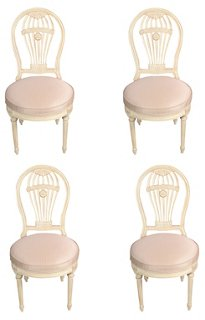 Vintage Maison Jansen Balloon Chairs, S4   Side Chairs   Dining Chairs    Dining Room   Furniture | One Kings Lane