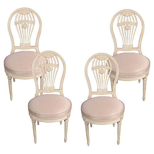 Vintage Maison Jansen Balloon Chairs, S4