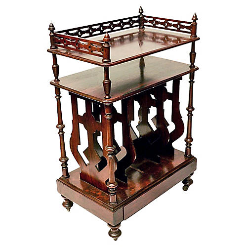 19th-C. English Rosewood Stand