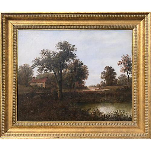 19th-C. Pastoral Landscape