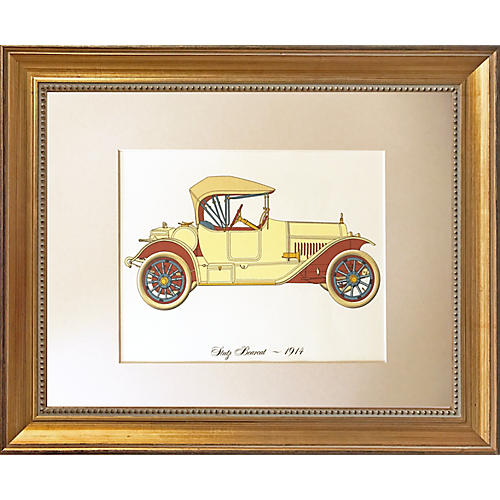 Vintage Lithograph-1914 Bearcat Roadster