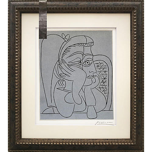 Picasso Femme Accoudée Linocut