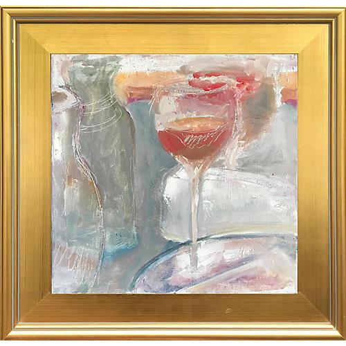 Abstract Wineglass Still Life