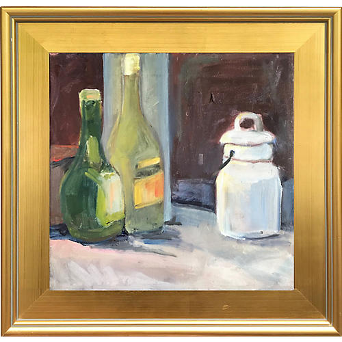 Still Life of Wine Bottles