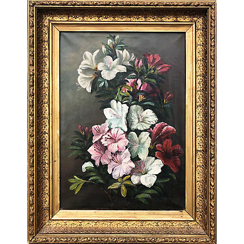 19th-C. Still Life of Lilies