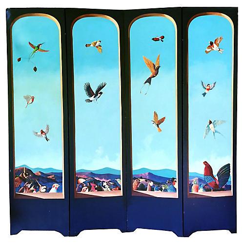 Sergio Bustamante Painted Room Screen