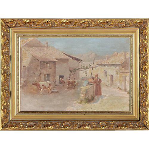 Bucolic Village Scene