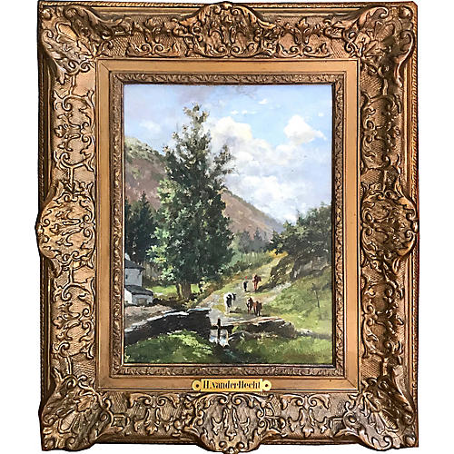 Landscape Painting by Van Der Hecht 1899