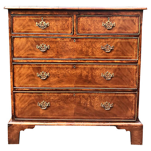 English Burl-Walnut Dresser, C. 1830