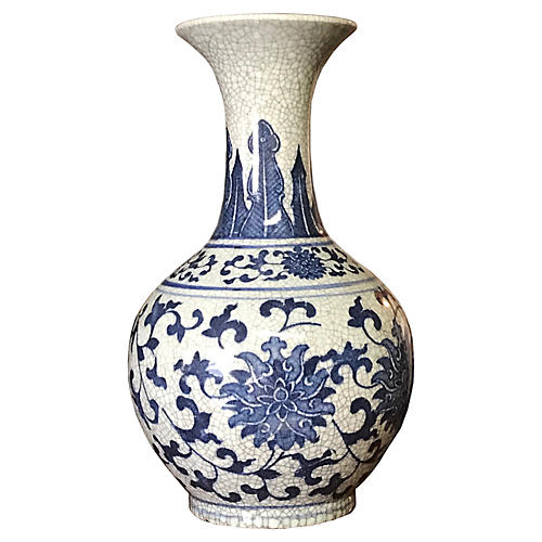 Vintage Jingdezhen Style Porcelain Vase
