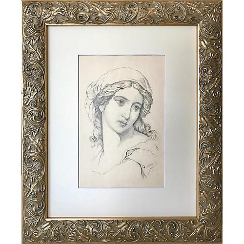 19th-C Renaissance-Style Portrait