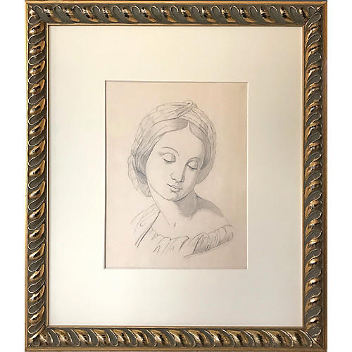 19th-C. Renaissance-Style Portrait