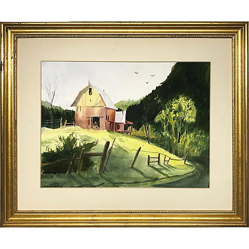 Farm Watercolor