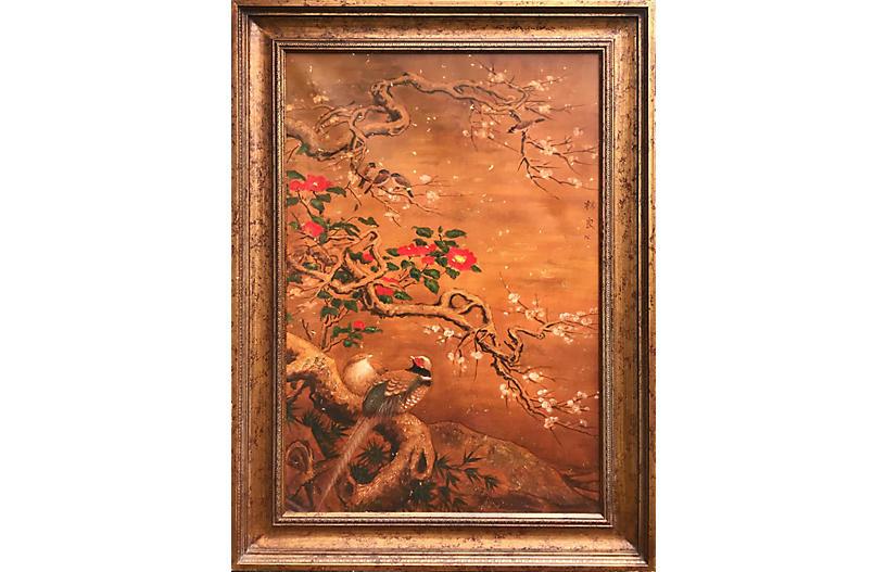 Chinoiserie Pheasant Scene