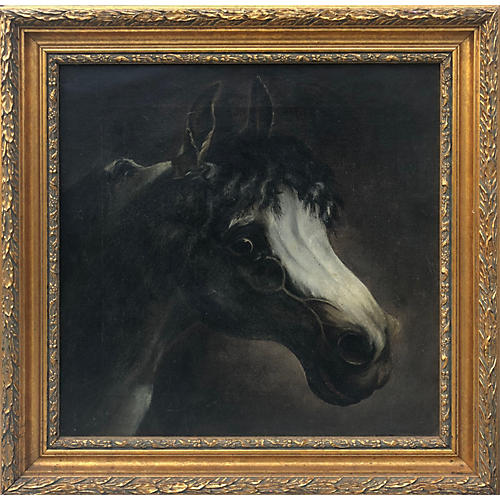 19th-C. Baroque Horse Portrait