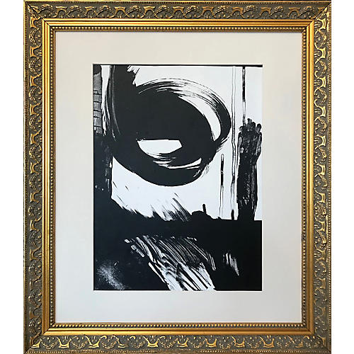 1970s Abstract Expressionist Lithograph